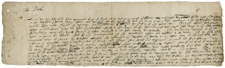 Confirmation of arms to Thomas Pecke, Esq., late mayor of Norwich [manuscript], ca. 1580s.