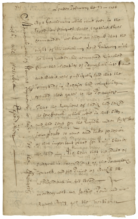 Newdigate family collection of newsletters from the Secretary of State [manuscript], 1673/4-1715.