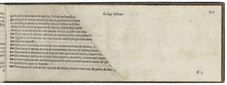 Geometria y traça para el oficio de los sastres : para que sepan como an de cortar qualesquier generos de ropas, assi de seda, como de paño, tela de oro y de plata, lanilla, y rajeta batanada, y de otra qualquier tela, assi para hombres, como para mugeres, clerigos y frayles / compuesto y traçado por Diego el Freyle, natural de la ciudad de Granada, y vezino de la ciudad de Seuilla, examinado del dicho officio.