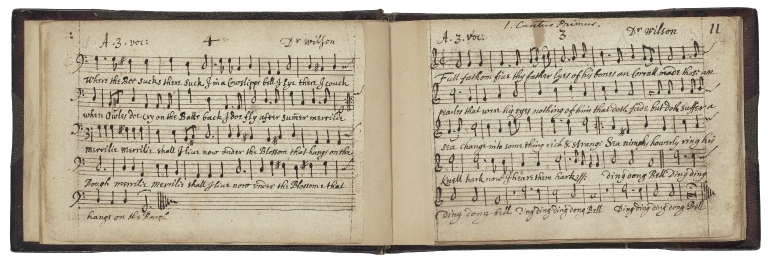 John Playford collection of music to the Tempest [manuscript].