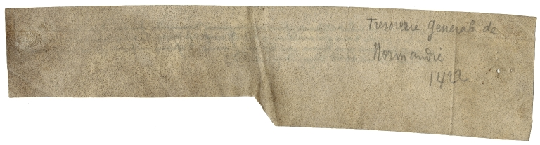 Receipts, orders, etc., relating to the English administration of Normandy, etc., by officials from England and their local agents