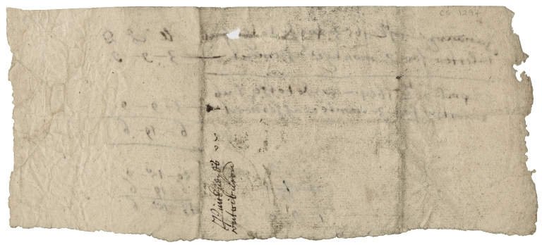 Accounts for contributions of Pinkneys, Cookham, Berkshire