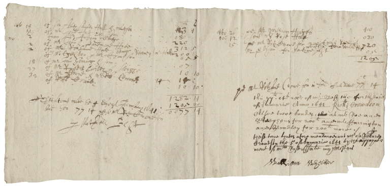 Accounts referring to members of the Hale family, October-November 1641?