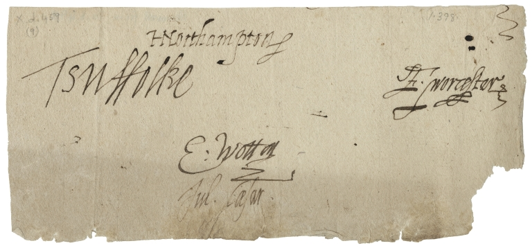 Letter signed from the Privy Council