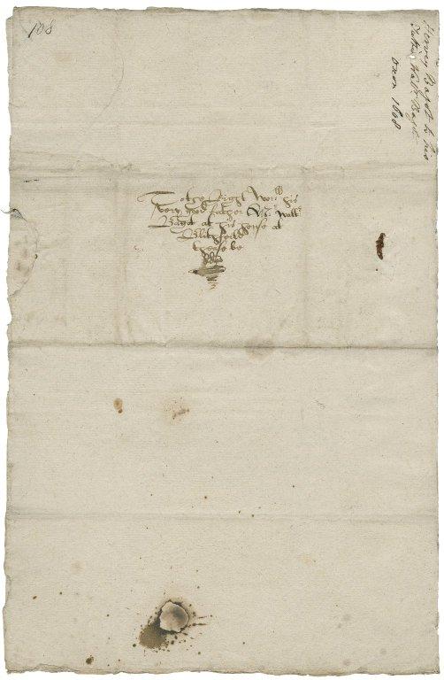 Letter from Sir Harvey Bagot, Oxford, to Walter Bagot