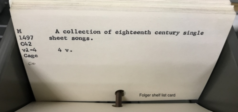 A collection of eighteenth century single sheet songs.