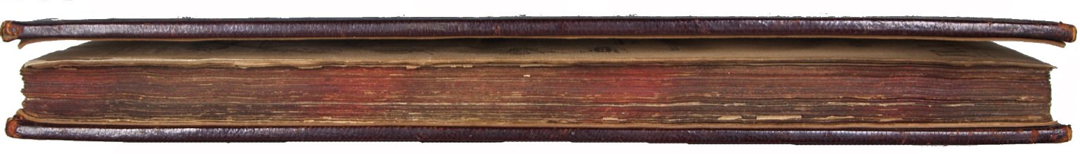 Fore-edge with staggered splattered pattern edge decoration, STC 17993a.