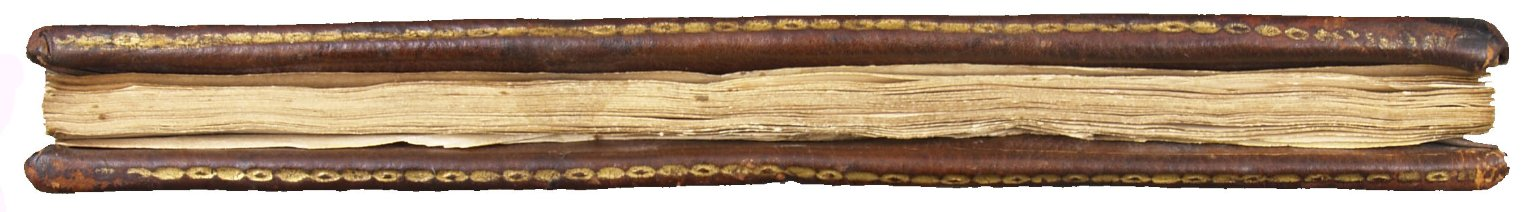 Fore-edge with gilt egg and lozenge roll tooling on the board edge, STC 24233.