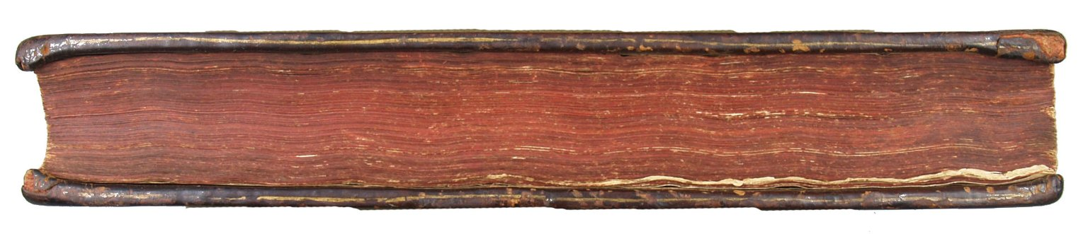 Fore-edge coloring and board edge single gilt line tooling, STC 25317.