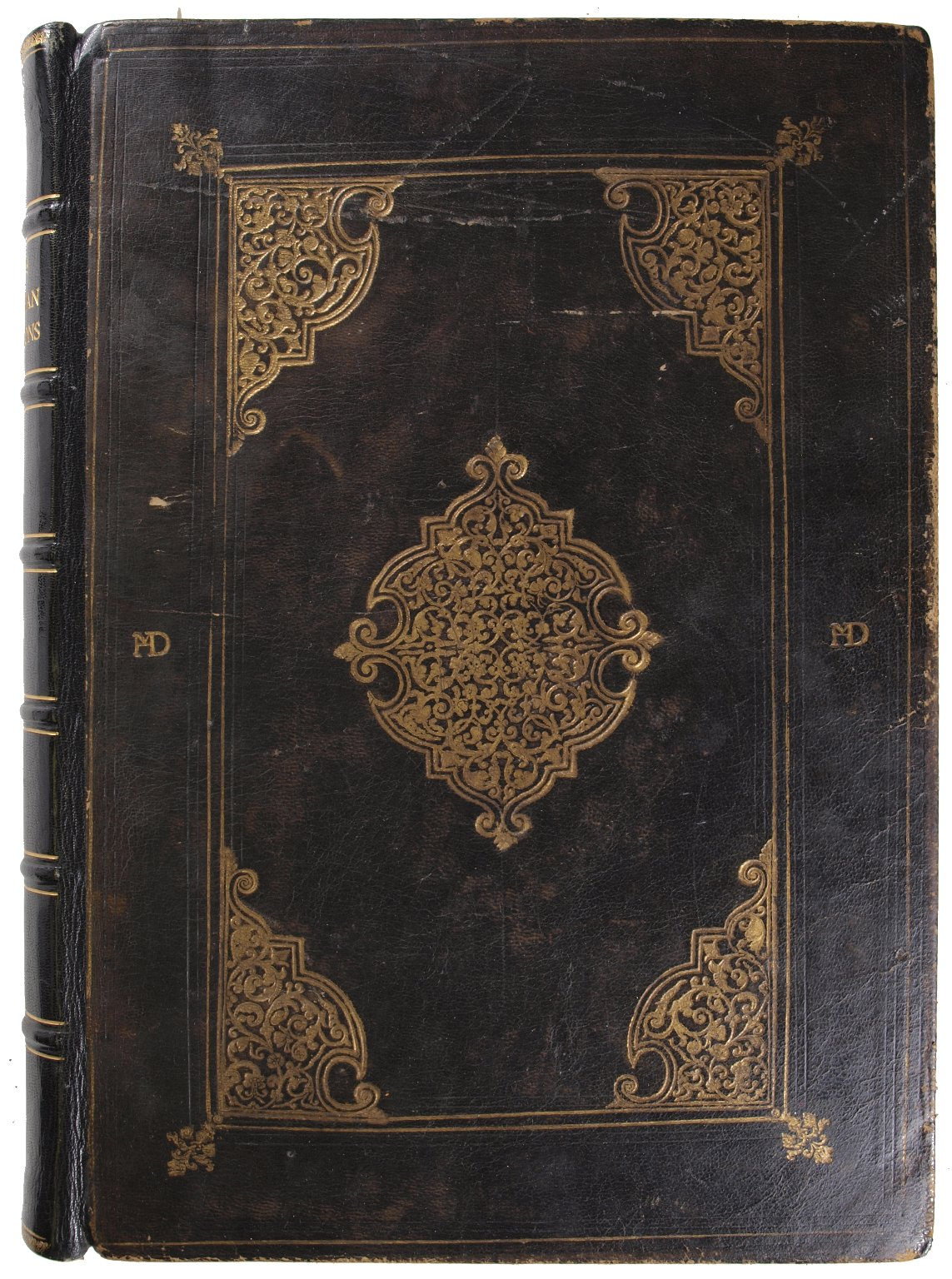 """Front cover with monogram intials """"HMD"""" of Humphrey Dyson, STC 7758.3."""