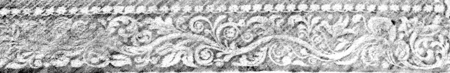 Rubbing of decorative roll with bird and clematis (detail), STC 25900 c.2.