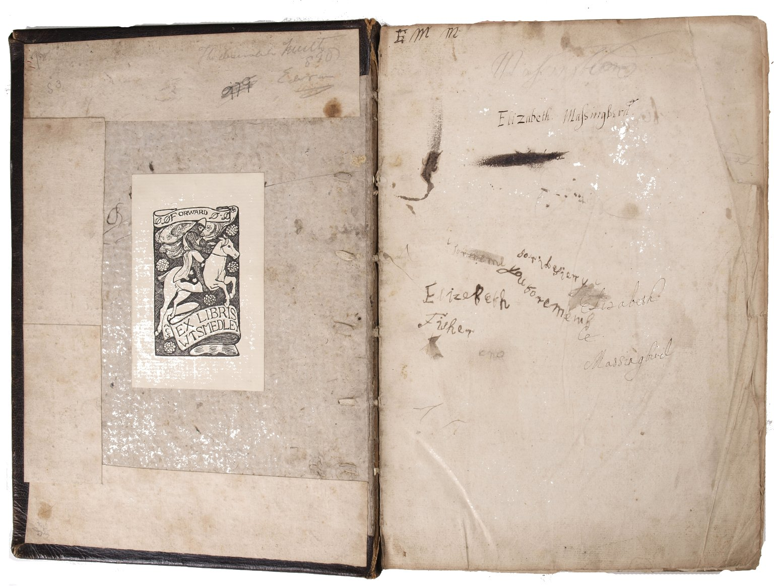 Flyleaf with autograph, STC 22550 c.3.