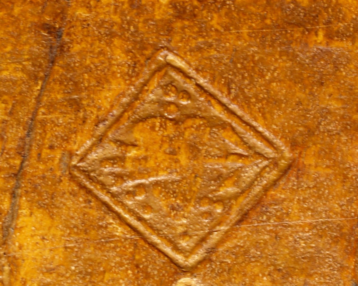 Small pierced heart stamp (detail), INC B551.