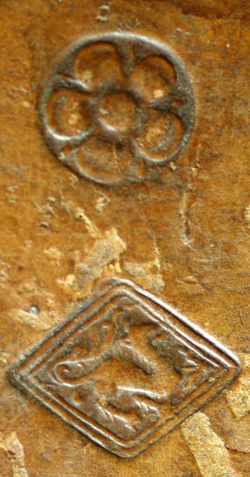 Small rombus stamp and small rosette (detail), INC J467.