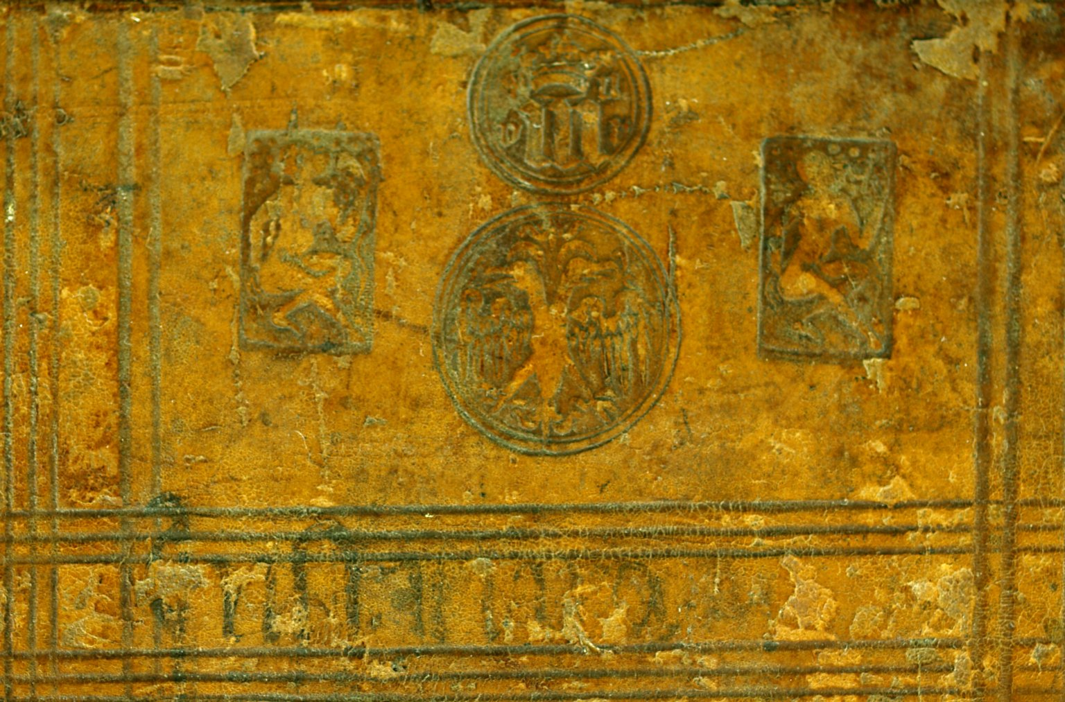 Top front cover (detail), INC J467.