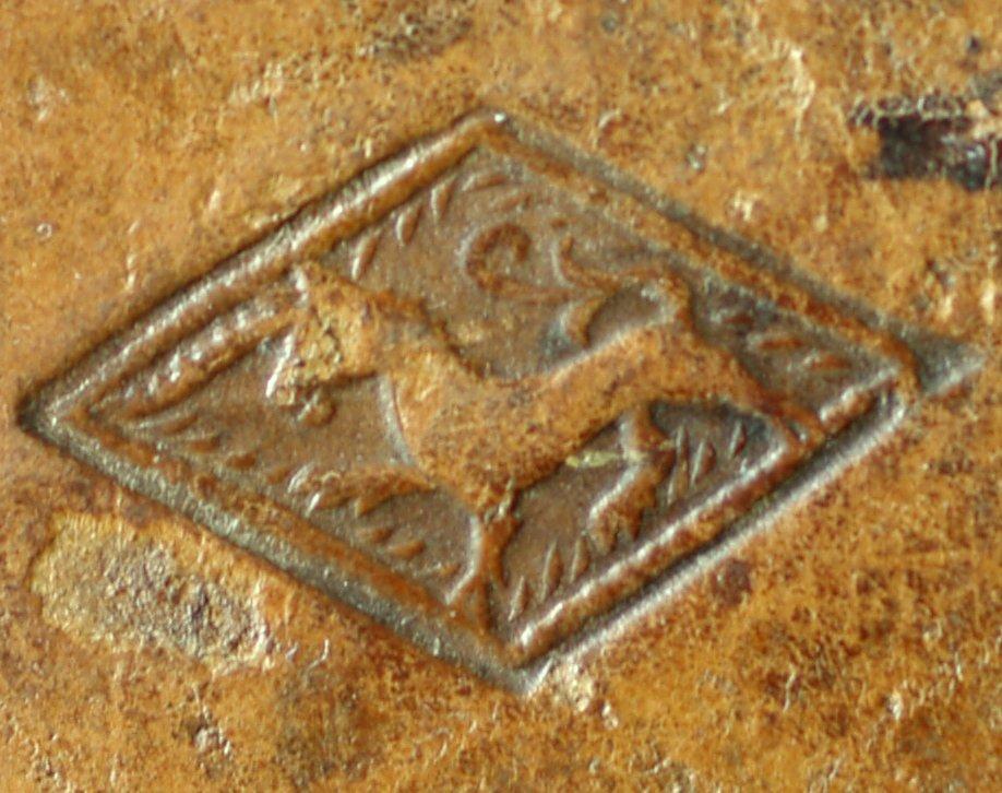 Unicorn lozenge stamp (detail), INC J467.