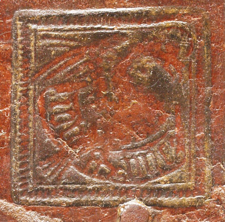 Rectangular bird stamp (detail), INC R8 volume 1.