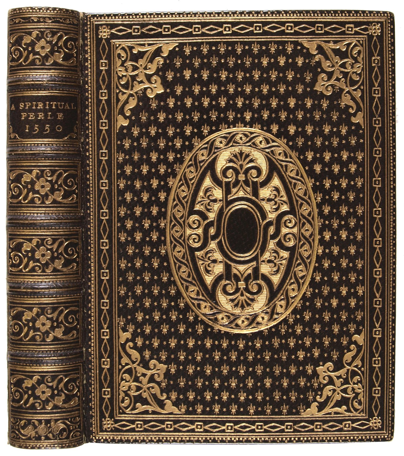 Front cover and spine, STC 25256  - LUNA: Folger Bindings