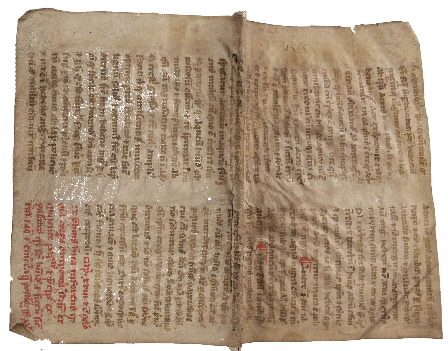 Open covers recycled manuscript, STC 462.2.