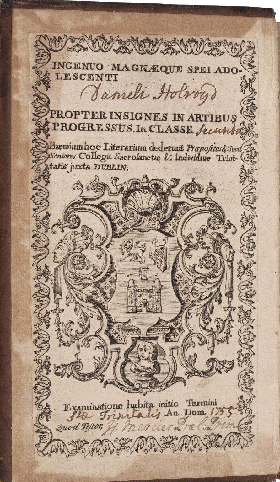 Inside paste-down, PR 2752 1747b copy 1 Sh. Col.