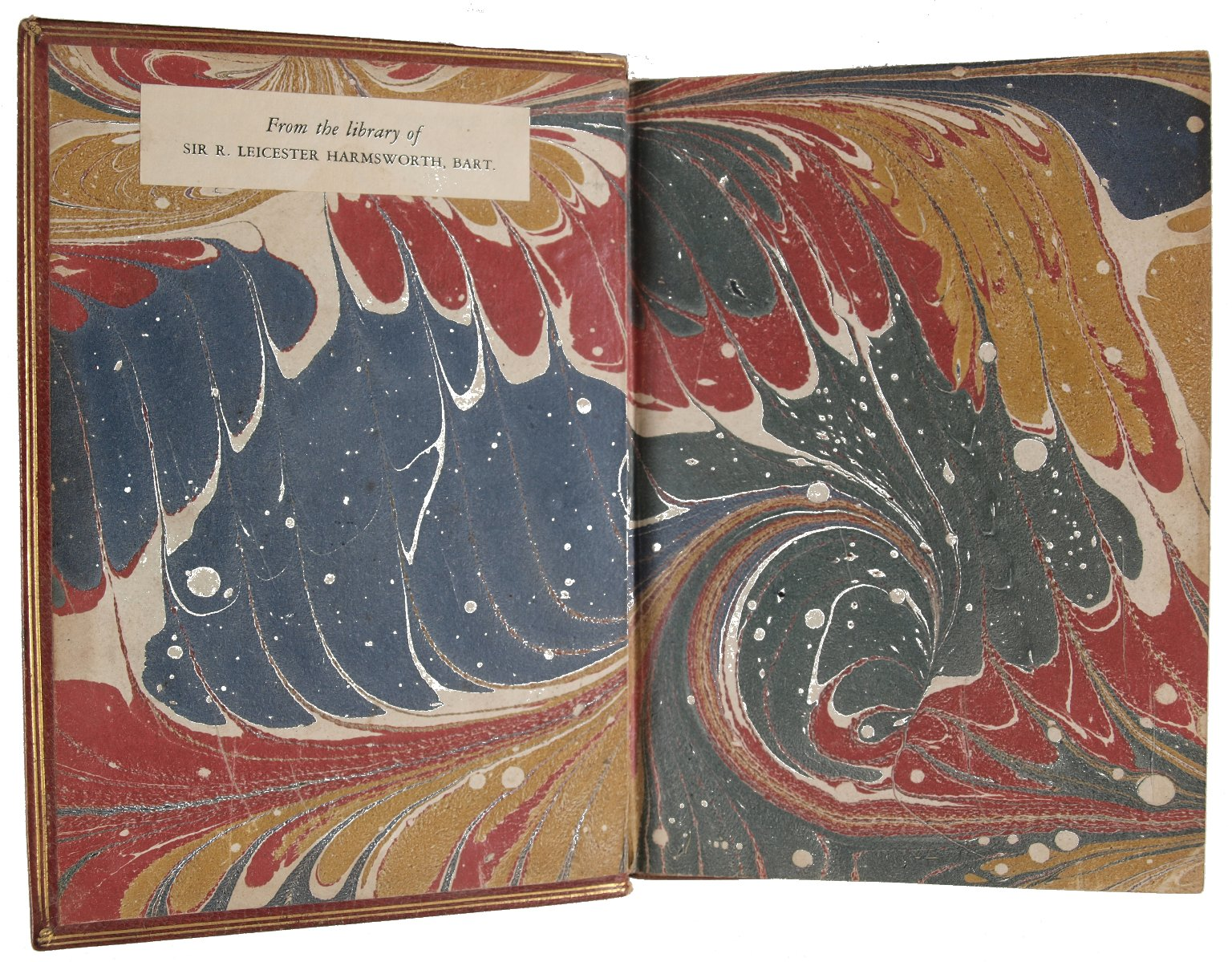 Inside front cover marble paper, STC 13084.