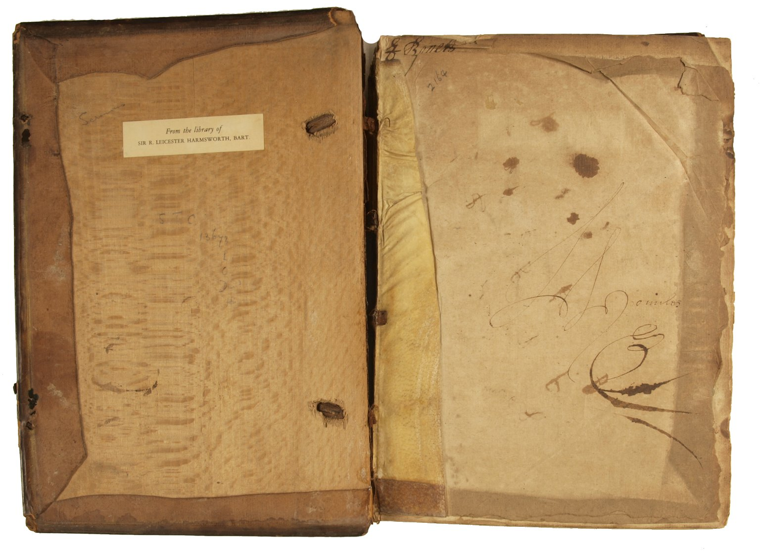 Inside front cover, STC 13656.
