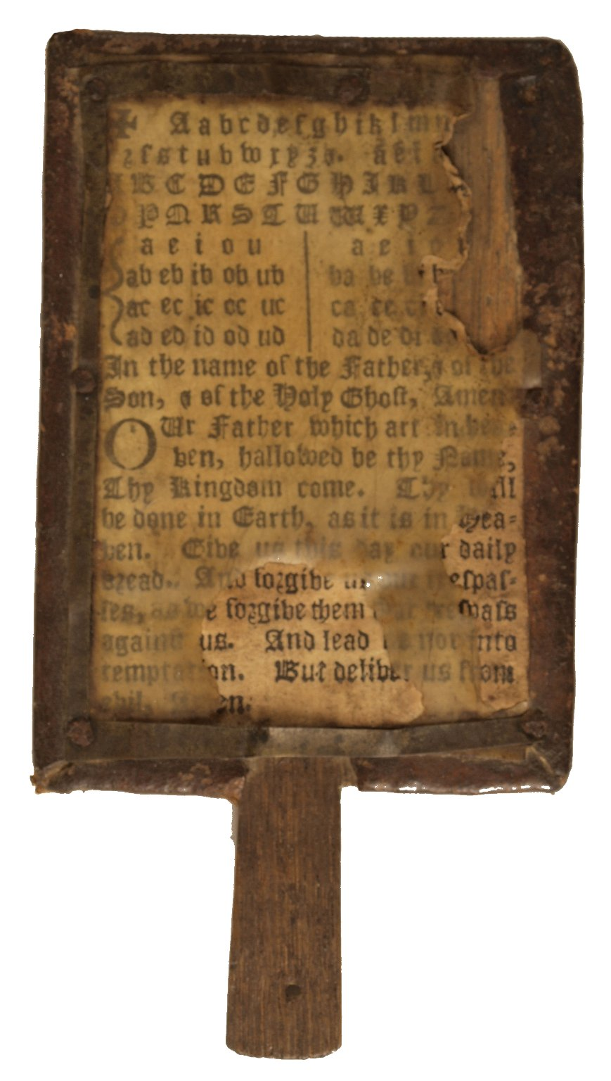 Front of horn book, STC 13813.6.