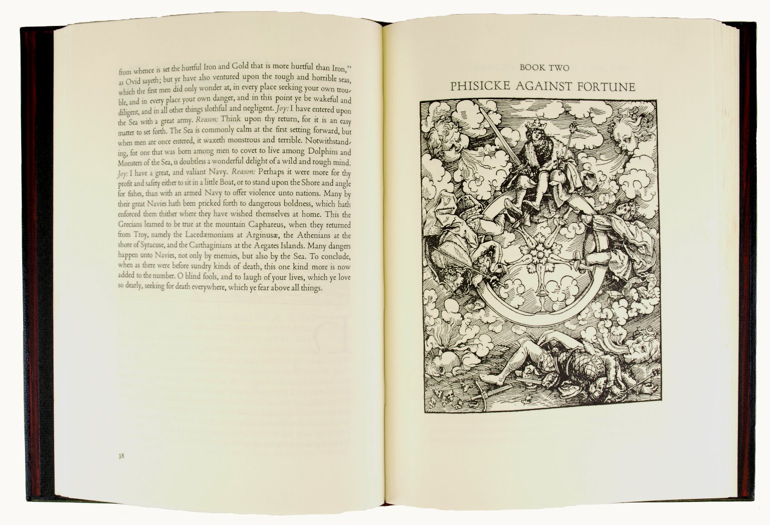 Woodcut image that inspired the binding design, 225-255f.