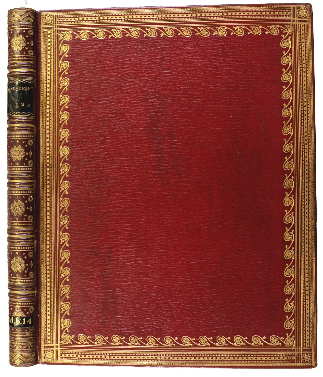 Front cover and spine, M.b. 14.