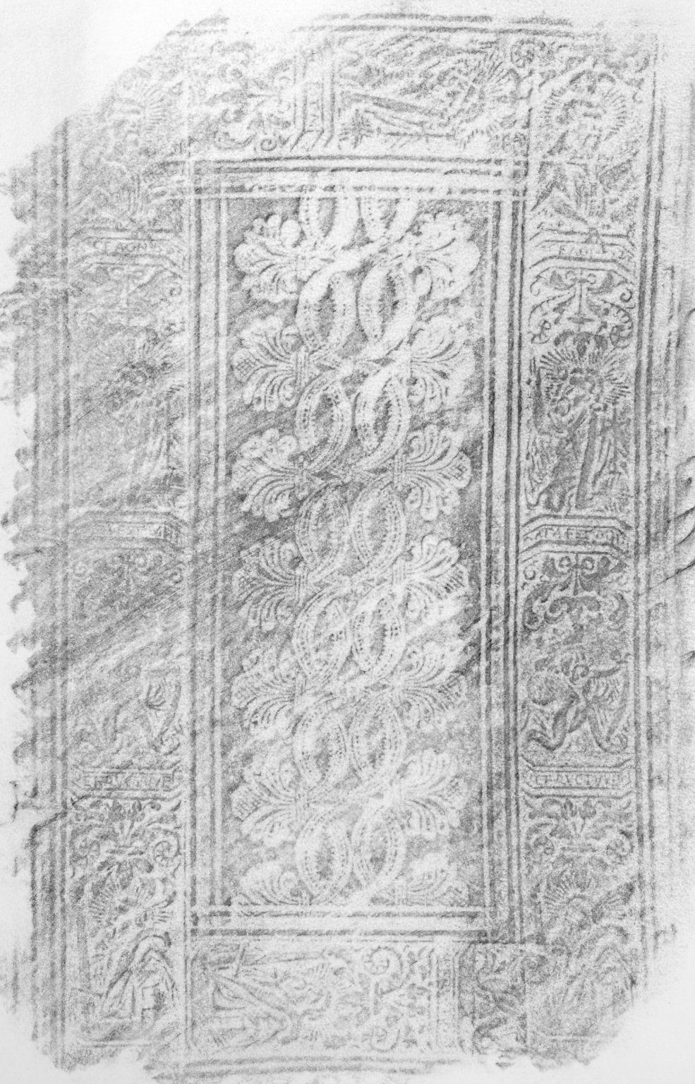 Front cover rubbing, KA47 D3 1556 cage.