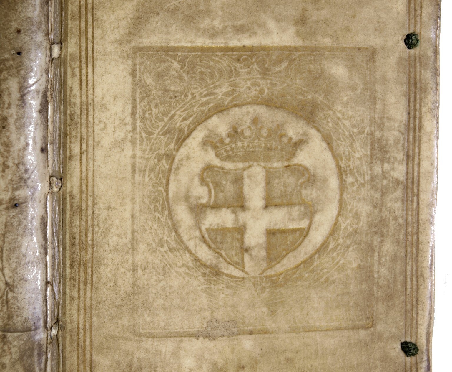 Front cover coat of arms (detail), PA3851 A2 1619 cage.