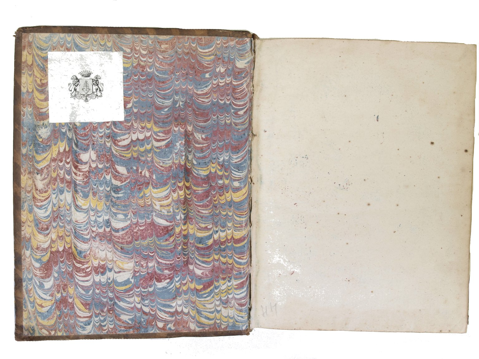 Inside front cover marble paper, PC2103 V29 1663 cage.