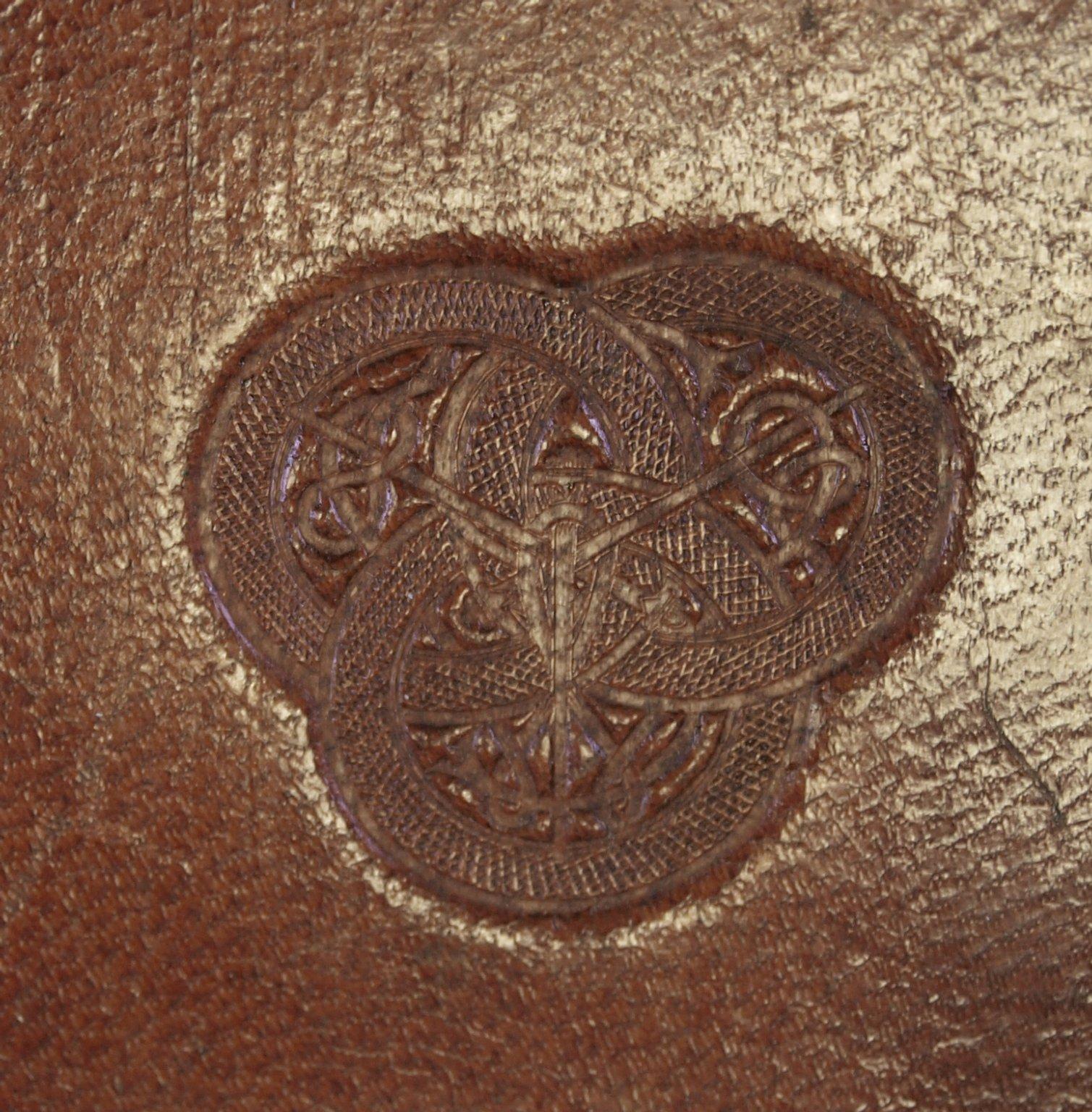 Back cover stamp (detail), PQ6279 B6 1549 cage v.2.