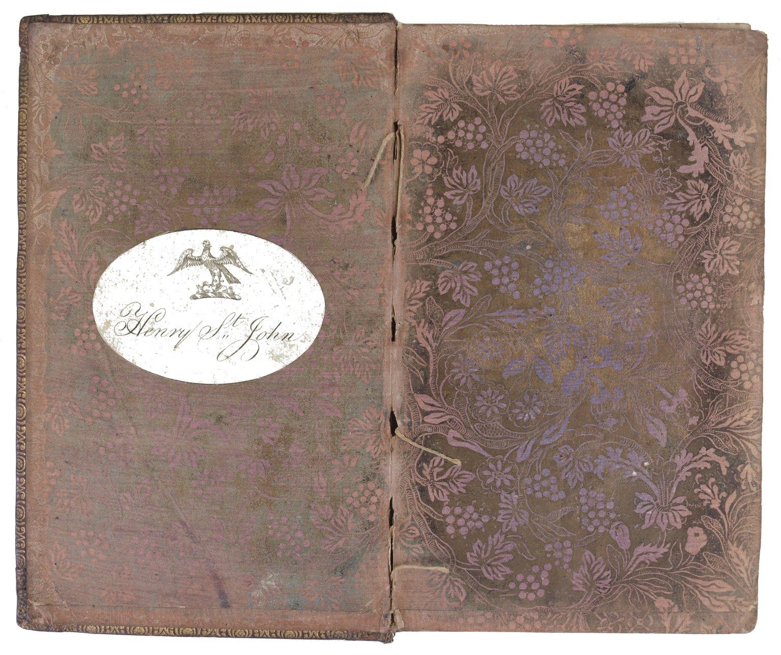 Inside front cover decorative paper, 145- 837q.