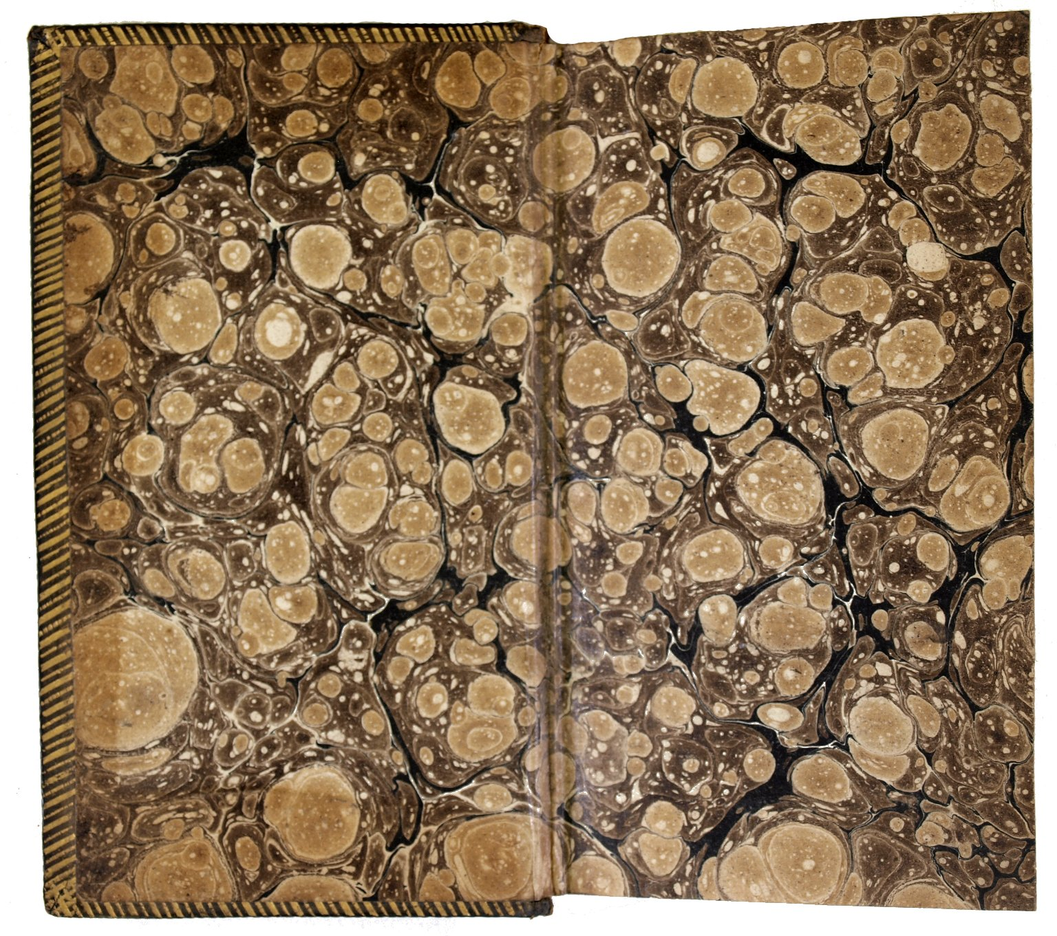Inside front cover marble paper, 161-604q.