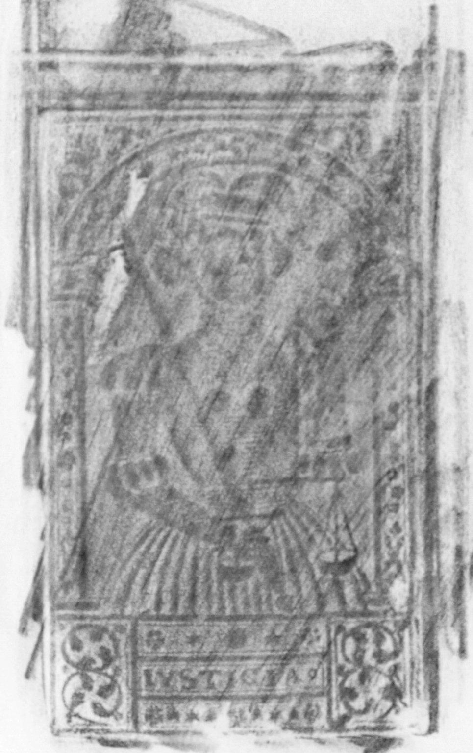 Back cover center panel stamp, 168- 524q.