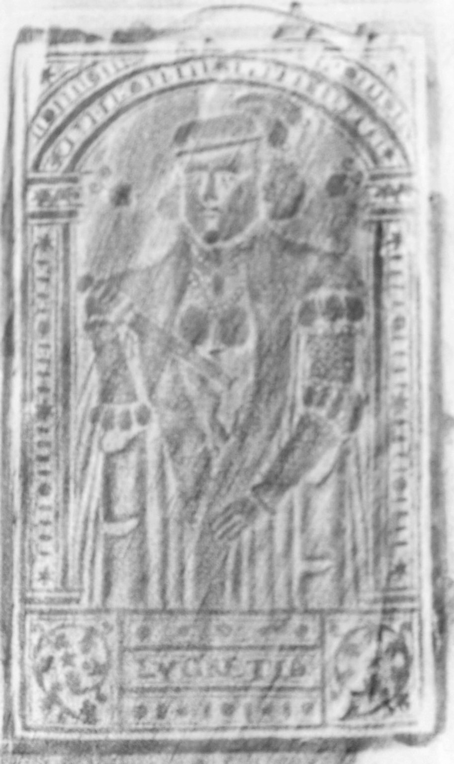 Front cover center panel stamp, 168- 524q.