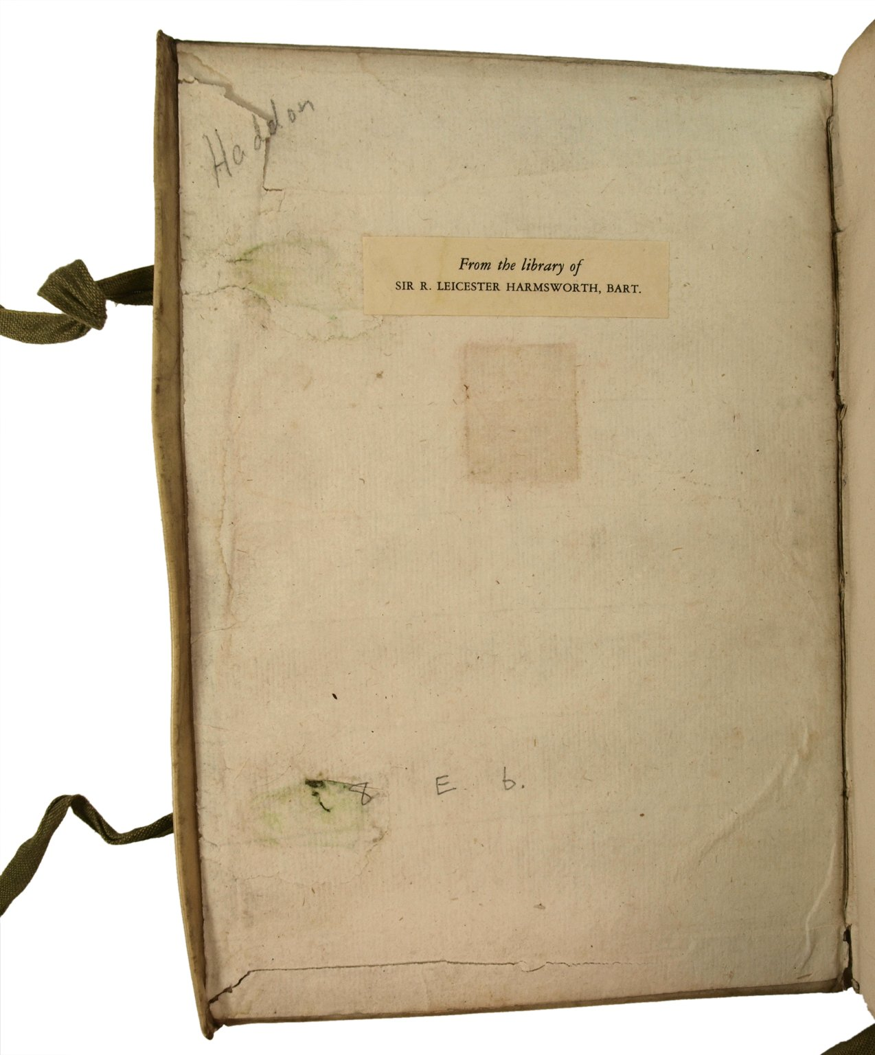 Inside front cover, STC 12593.