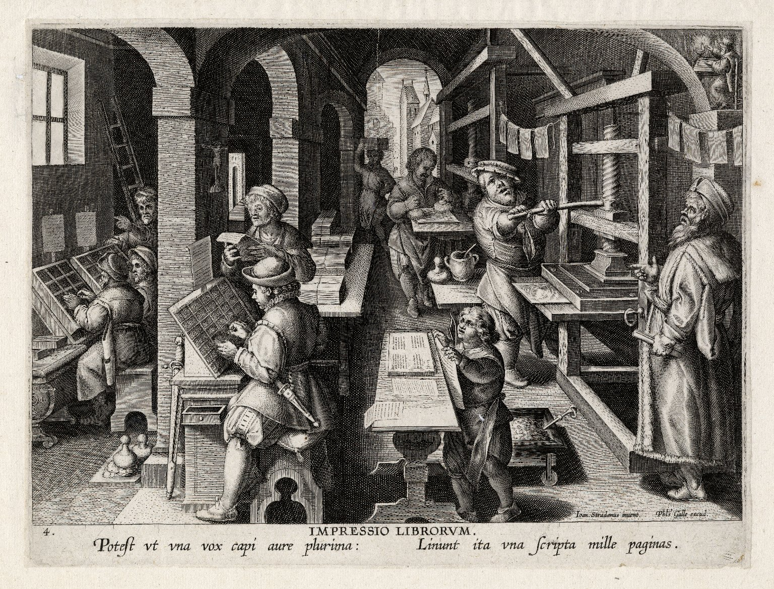 Impressio Librorum, plate 4 of Nova Reperta