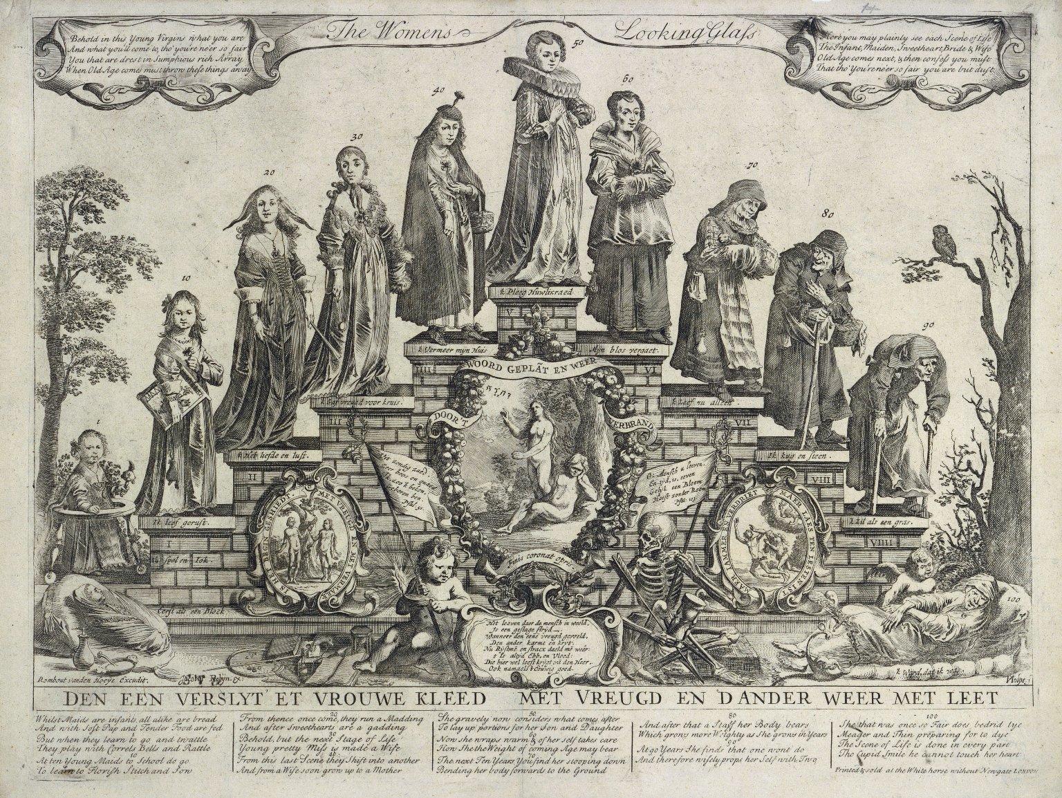 The women's looking glass [graphic] / Rombout van den Hoeije excudit ; Jacobus Robijn ex. ; P. Nolpe f.