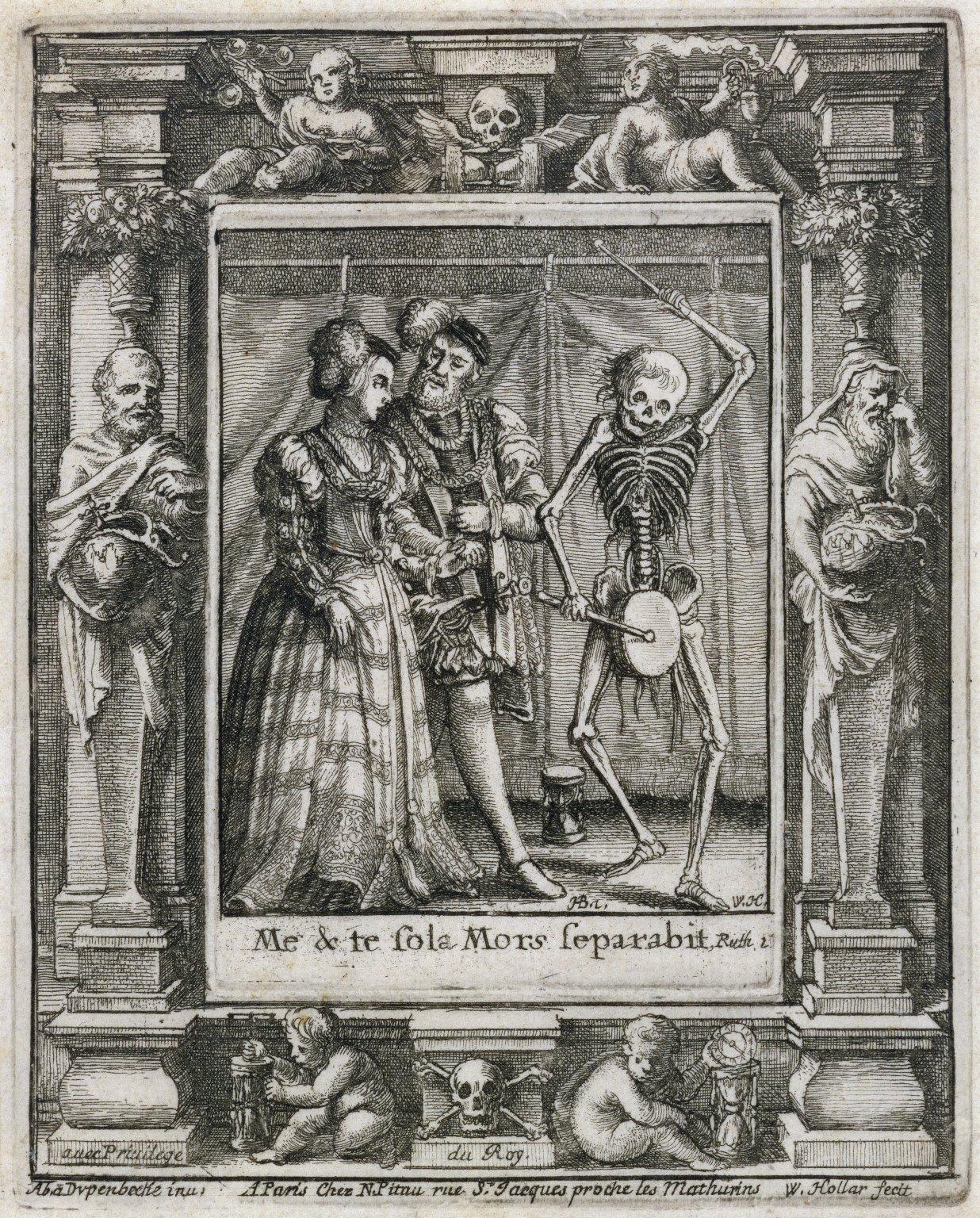Me & te sola mors separabit, Ruth 2 [graphic] / H.B. i. [center plate] ; W.H. [center plate] ; Ab. à Dvpenbeché inu. [border] ; W. Hollar fecit [border].