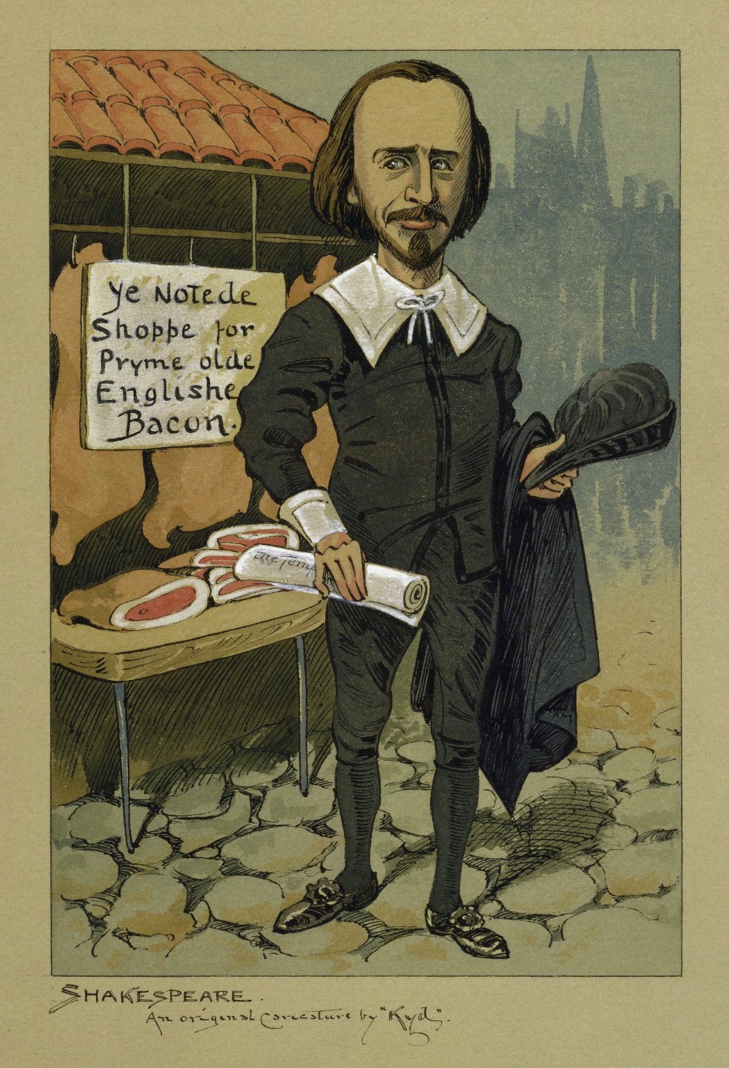 """[An original caricature of Shakespeare] [graphic] / by """"Kyd"""" [pseud.]"""