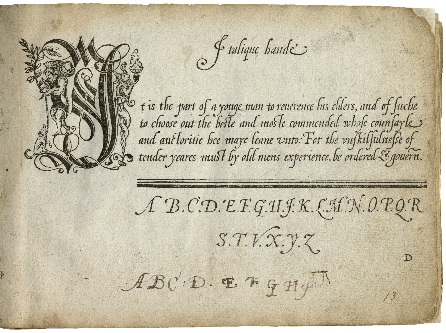 A booke containing diuers sortes of hands ...