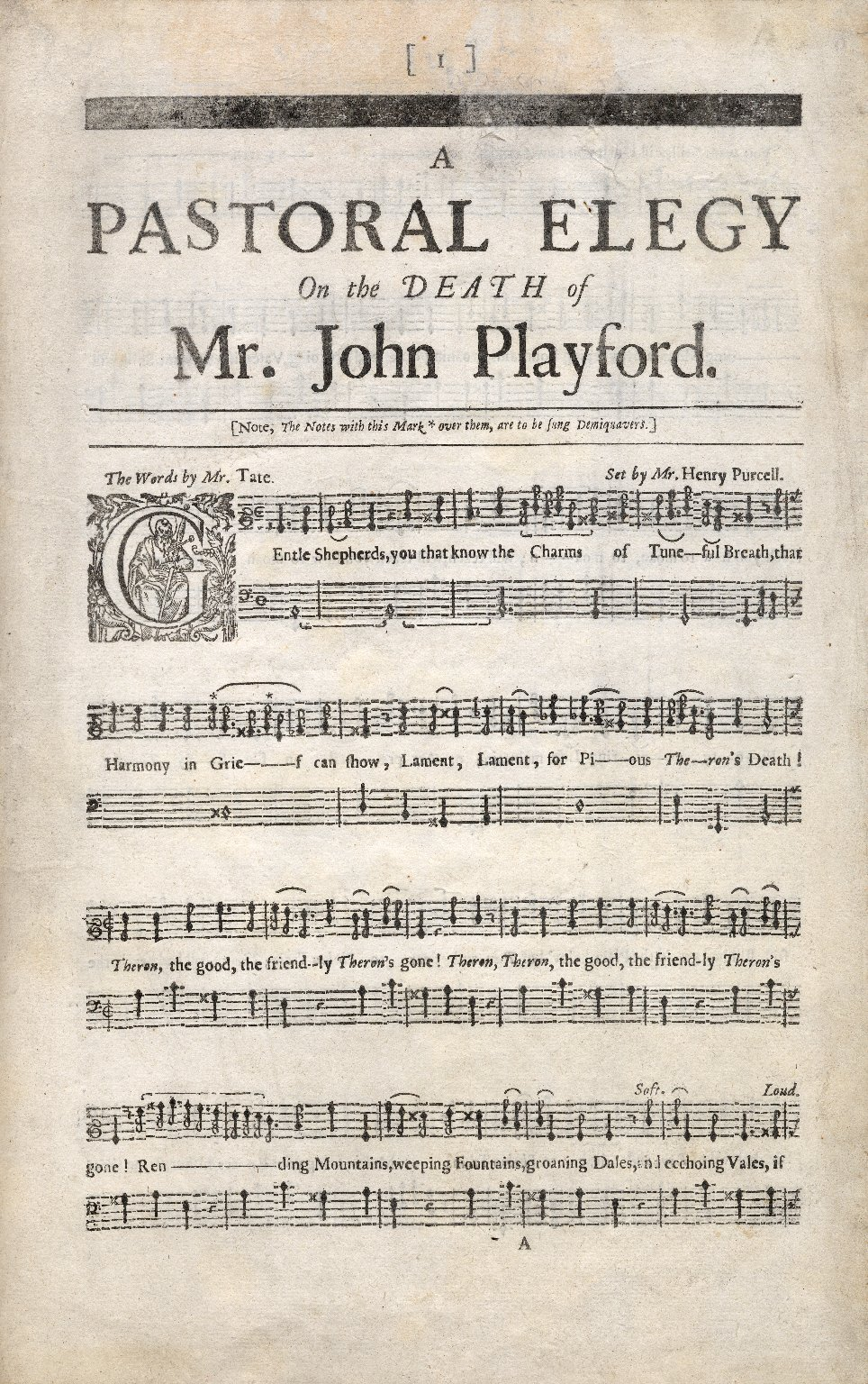A pastoral elegy on the death of Mr. John Playford.