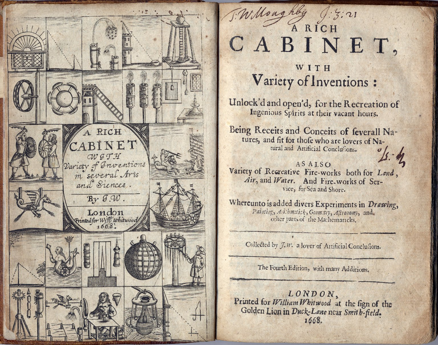 A rich cabinet, with variety of inventions: unlock'd and open'd, for the recreation of ingenious spirits at their vacant hours.
