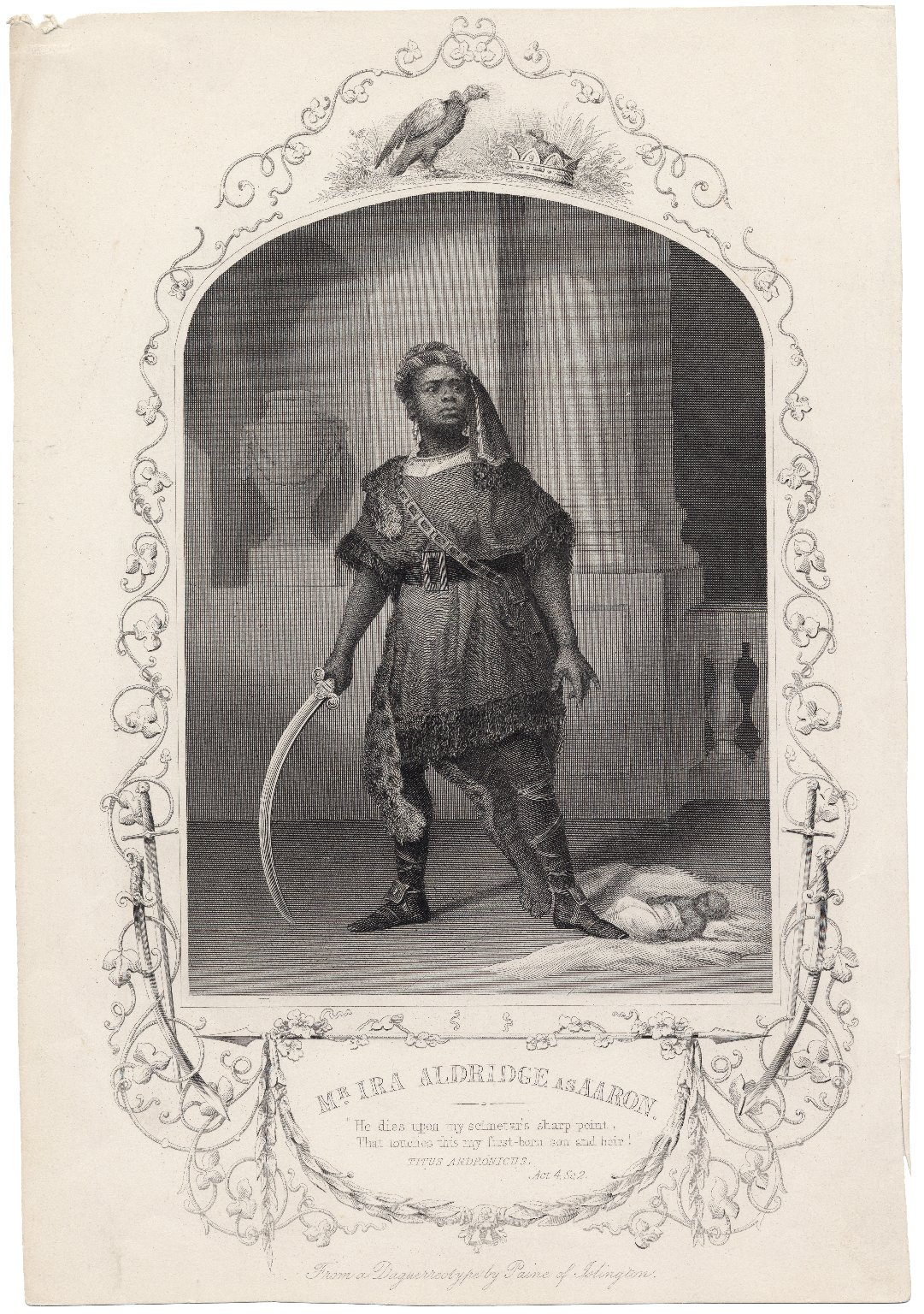 Mr. Ira Aldridge as Aaron [character in Shakespeare's] Titus Andronicus [graphic].
