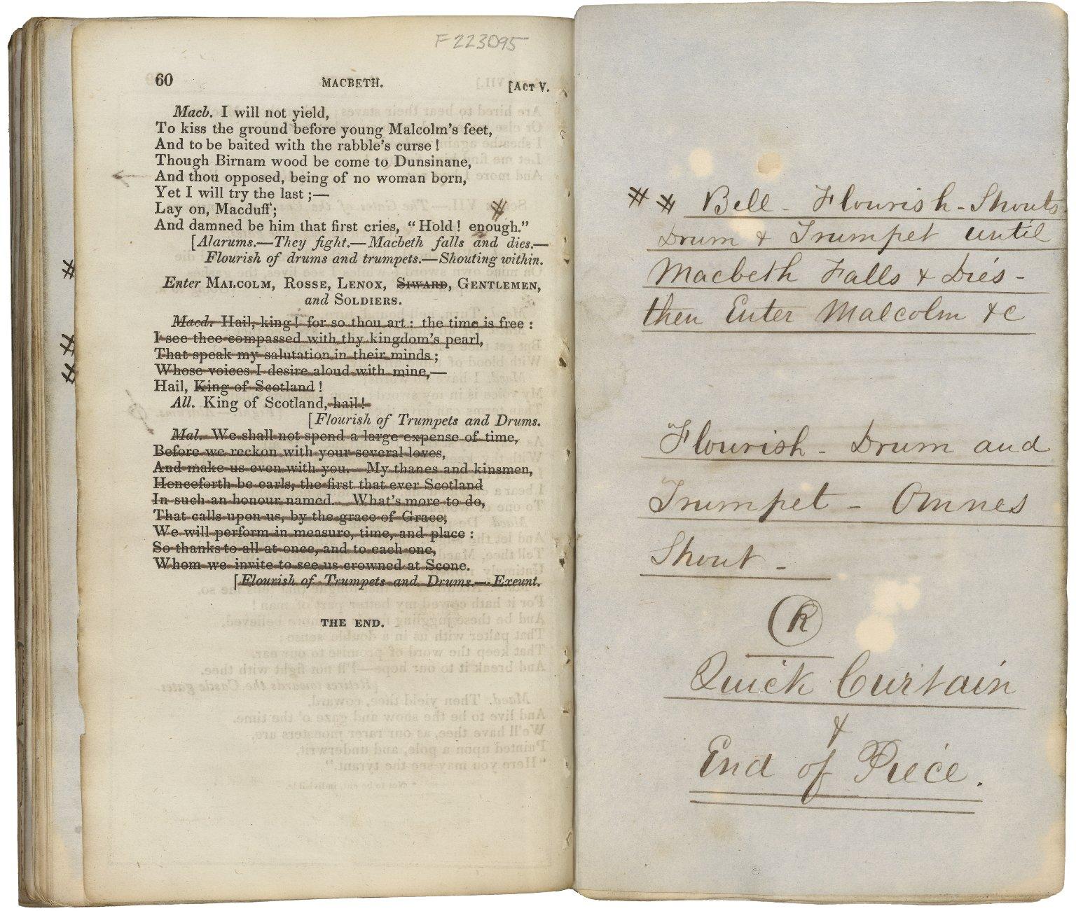 Macbeth promptbook
