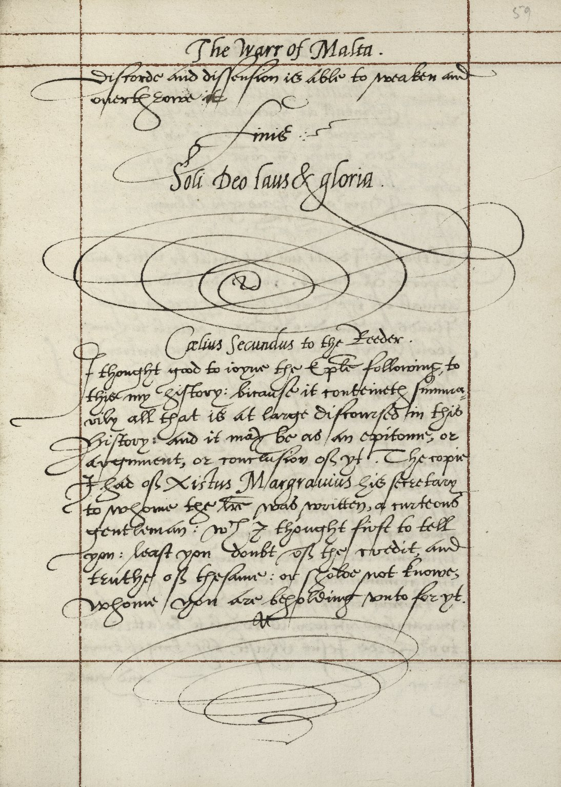 Caelivs Secvndi Durio his historie of the warr of Malta