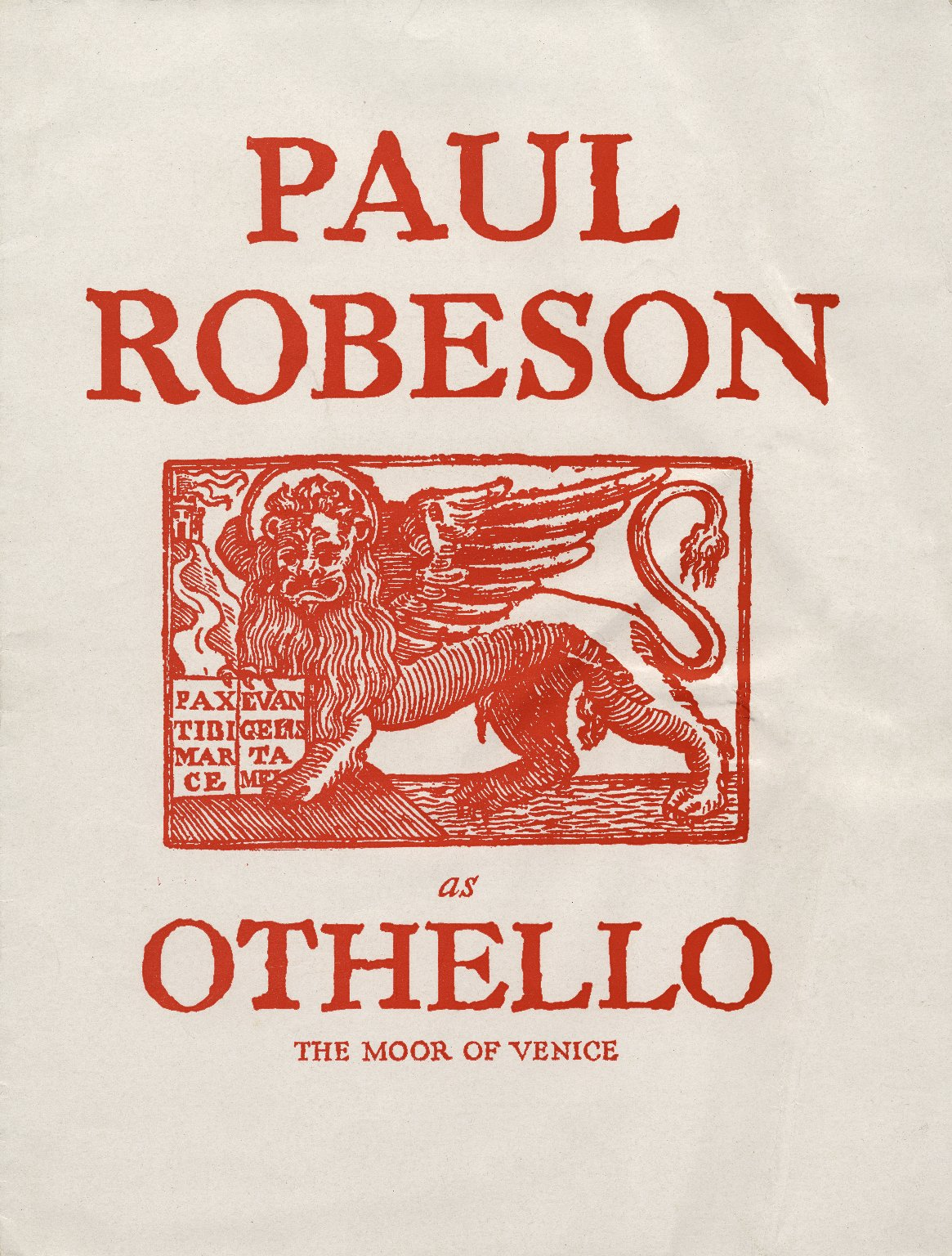 Paul Robeson as Othello the Moor of Venice