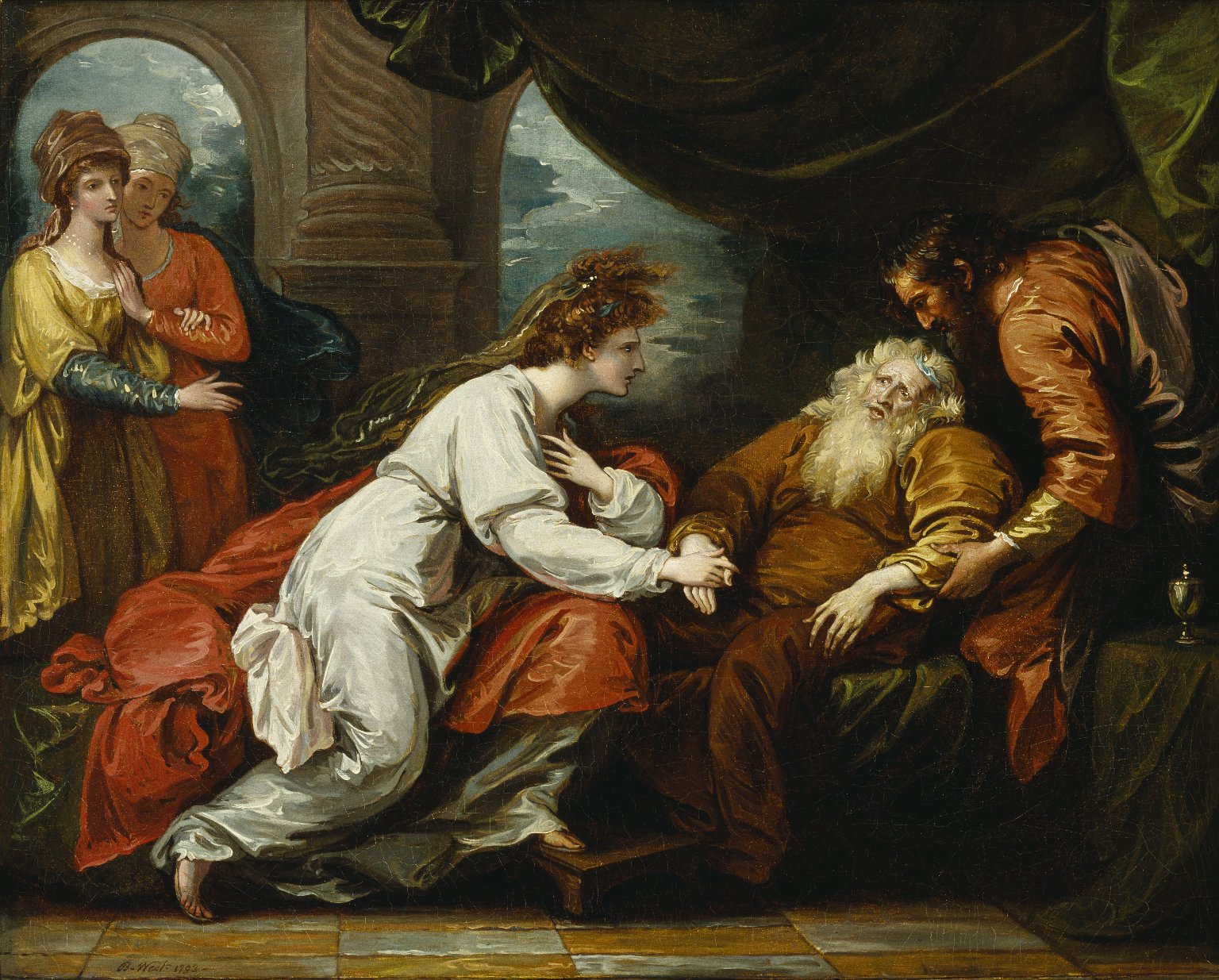 King Lear and Cordelia [graphic] / B. West, 1793.
